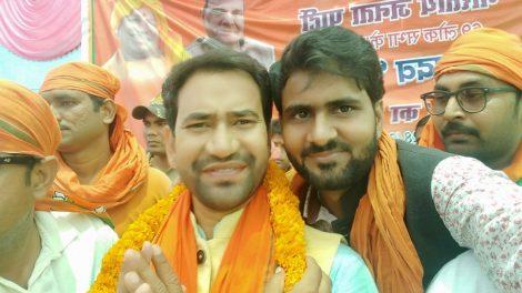 आजमगढ़ में अभिनेता विनोद यादव ने किया निरहुआ के चुनाव प्रचार, कहा - दो लाख वोट से होगी जीत