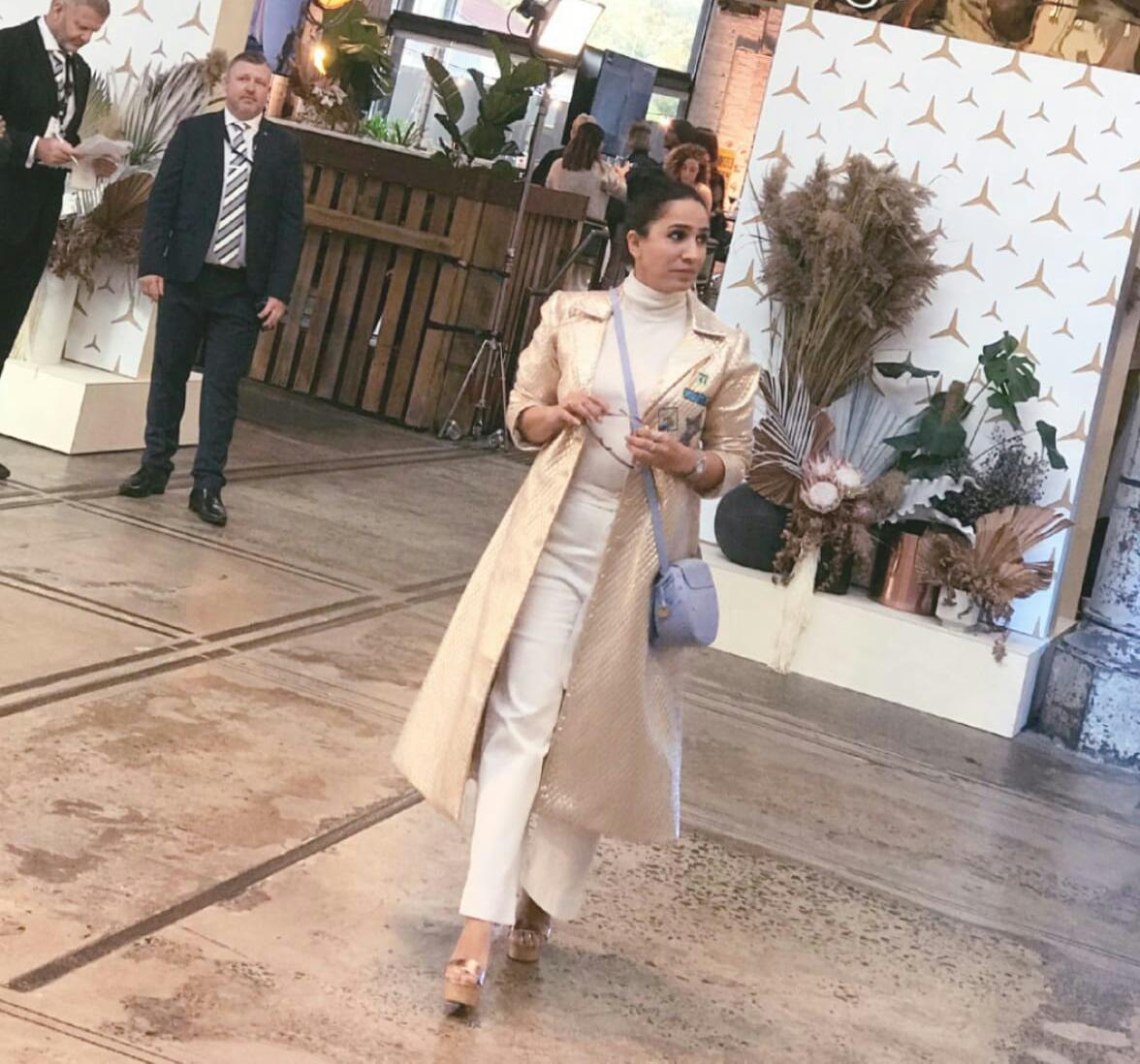Gorgeous Sonalika Pradhan flaunted her Indian Charm at international event.