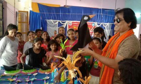 बॉलीवुड एक्टर अमिय कश्यप ने दिए बालग्राम के बच्चों को एक्टिंग के टिप्स