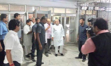 मुजफ्फरपुर पहुंचे बिहार के मुख्यमंत्री नीतीश कुमार