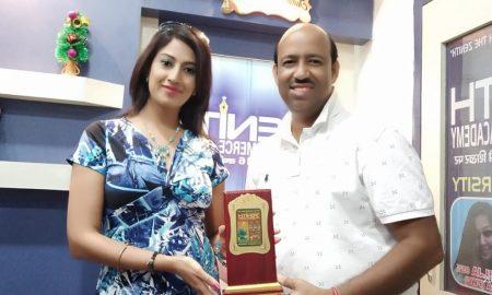 Felicitation of Jyoti Jha and Vinay Rai by Zenith Commerce Academy