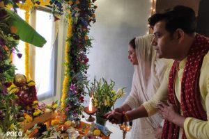सांसद सह अभिनेता रवि किशन के घर पधारे गणपति बप्पा, किया परिवार संग स्वागत