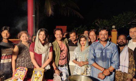 निर्देशक रितेश ठाकुर ने अपने फ़िल्म के सेट पर मनाया दीपावली