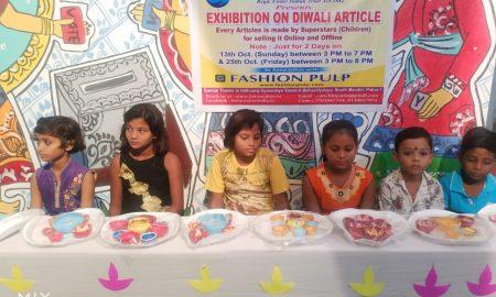 बी फॉर नेशन ने गरीब एवं वंचित बच्चों को दिया दिवाली का तोहफ़ा