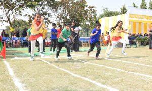 दिल्ली वर्ल्ड पब्लिक स्कूल के विशाल प्रांगण में वार्षिक खेलकूद समारोह का आयोजन