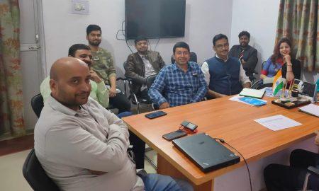 अप्रवासी सम्मेलन को सफल बनाने को लेकर भाजपा विदेश संपर्क विभाग की हुई बैठक