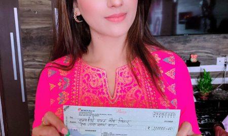 कोरोना से लड़ने के लिए भोजपुरी अभिनेत्री अक्षरा सिंह ने मुख्यमंत्री राहत कोष में दिया 1 लाख