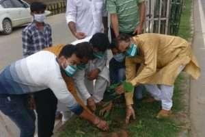 बिहार पृथ्वी दिवस के मौके पर वृक्षरोपण किया गया ।
