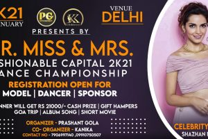 MR MISS एंड MRS FASHIONABLE CAPITAL 2021 का Grand Finale 24 January को Delhi NCR में