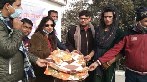 दीदी जी फाउंडेशन ने किन्नर समुदाय के बीच कंबल बांटकर राष्ट्रीय मतदाता दिवस मनाया