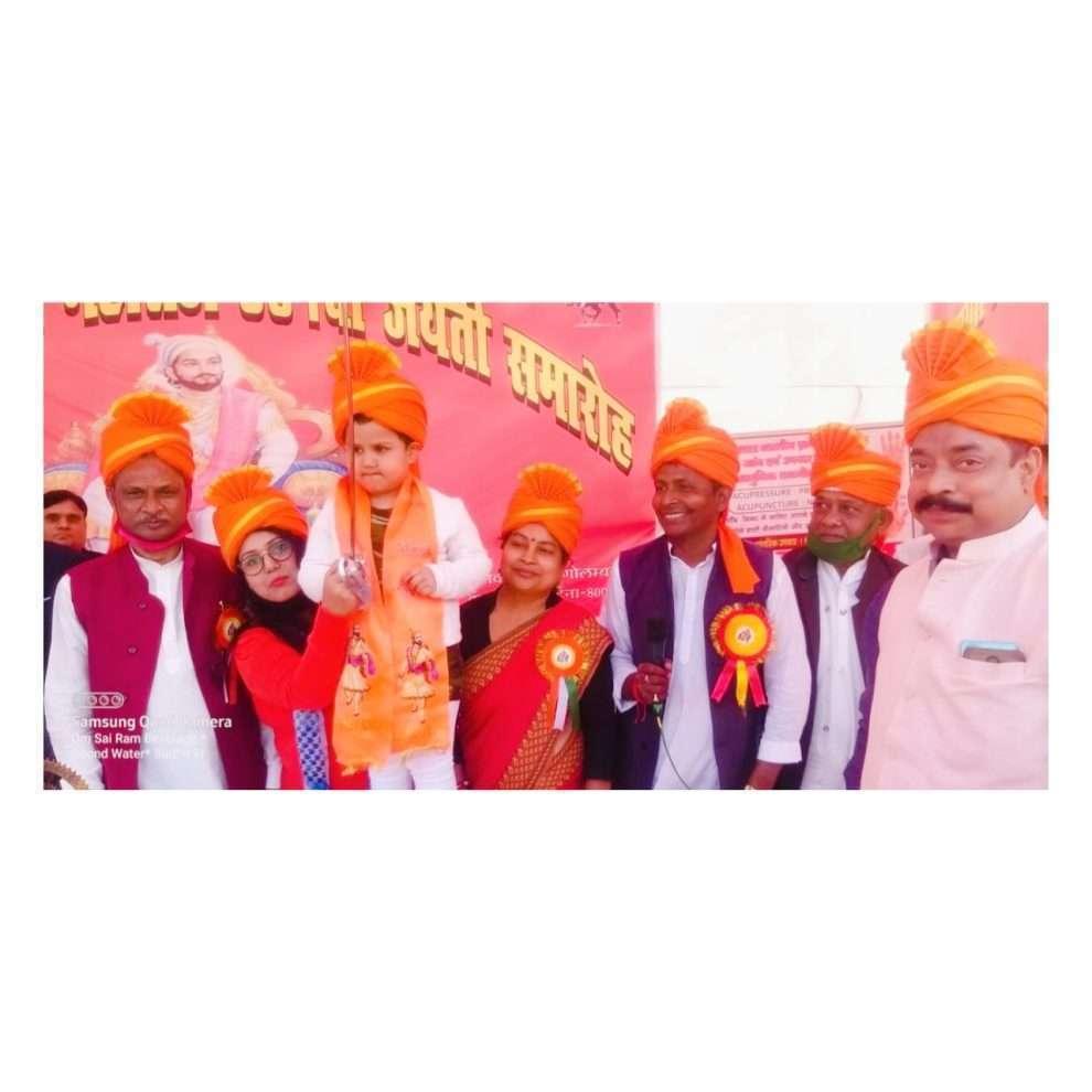 धूमधाम से मनाया गया छत्रपति शिवाजी महाराज की जयंती, मुख्य अतिथि के तौर पर शामिल हुईं चाइल्ड आर्टिस्ट लाडो बानी पटेल ।